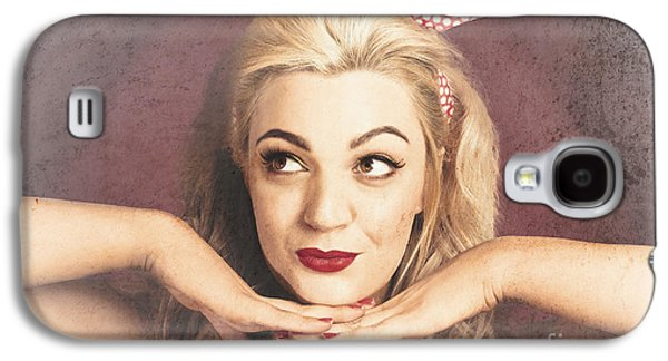 Vintage Face Of Nostalgia. Retro Blond 1940s Girl  Galaxy S4 Case