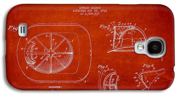 Vintage Firefighter Helmet Patent Drawing From 1932 Galaxy S4 Case by Aged Pixel