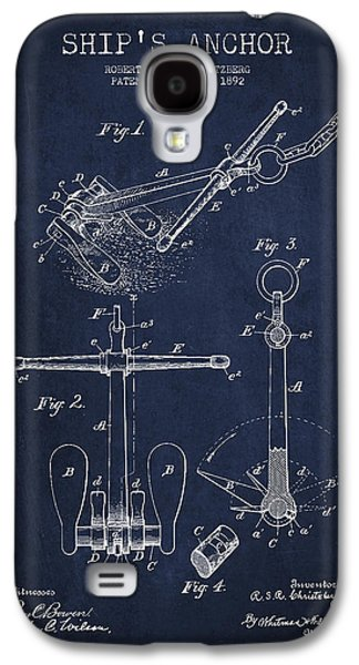 Vintage Ship Anchor Patent From 1892 Galaxy S4 Case by Aged Pixel