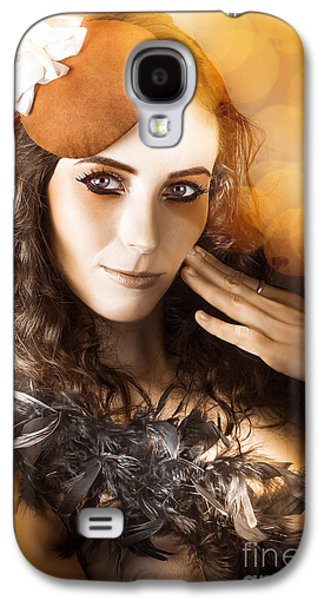 Vintage Style Actress Performing In French Beret Galaxy S4 Case