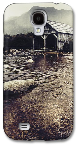 Vintage Style Landscape Of A Rustic Boat Shed Galaxy S4 Case by Jorgo Photography - Wall Art Gallery