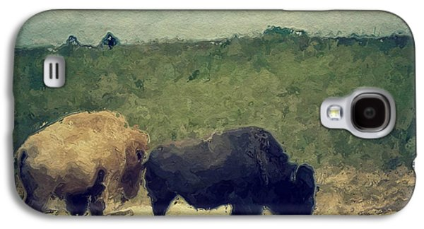 White And Black Buffalo Galaxy S4 Case by Amy Cicconi