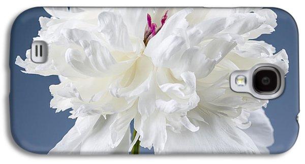 White Peony Flower Galaxy S4 Case