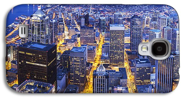 Wide Seattle Cityscape Galaxy S4 Case