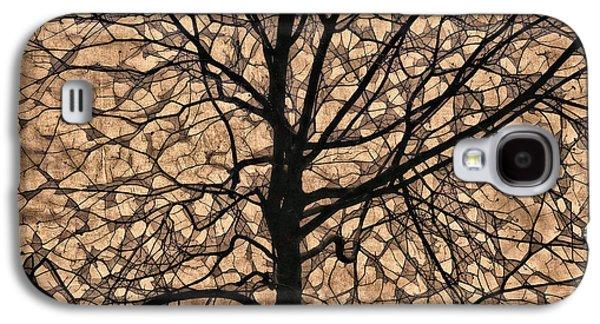 Windowpane Tree In Autumn Galaxy S4 Case