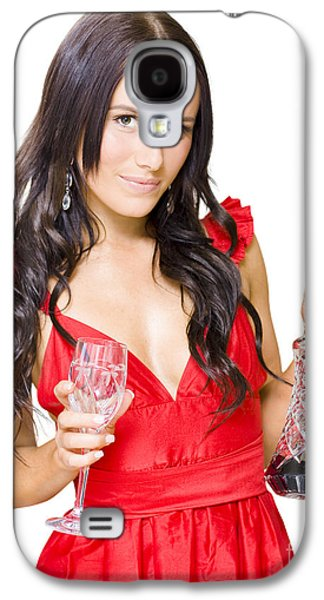 Winery Woman With Red Wine Glass And Decanter Galaxy S4 Case