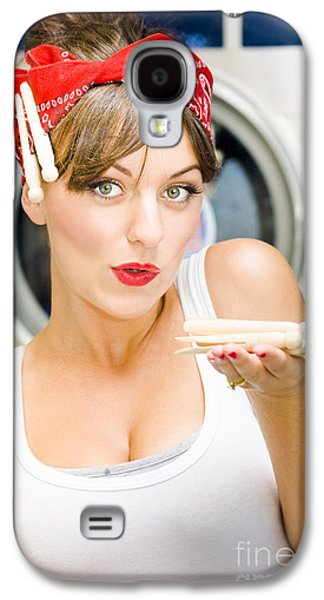 Woman Doing Washing Galaxy S4 Case