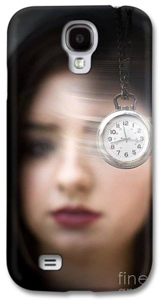 Woman Looking At Pocket Watch Galaxy S4 Case by Jorgo Photography - Wall Art Gallery