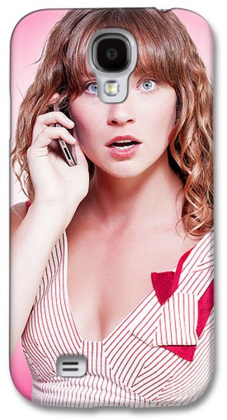 Woman Reacting With Disbelief To News Galaxy S4 Case by Jorgo Photography - Wall Art Gallery