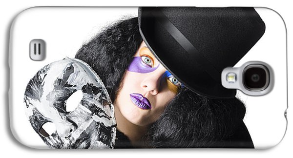 Woman With Mask Galaxy S4 Case