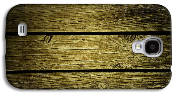 Wooden Planks Galaxy S4 Case by Les Cunliffe