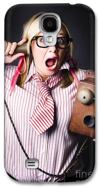 Worker In Shock During Bad News Communication Galaxy S4 Case by Jorgo Photography - Wall Art Gallery