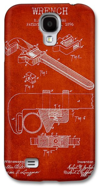 Wrench Patent Drawing From 1896 Galaxy S4 Case