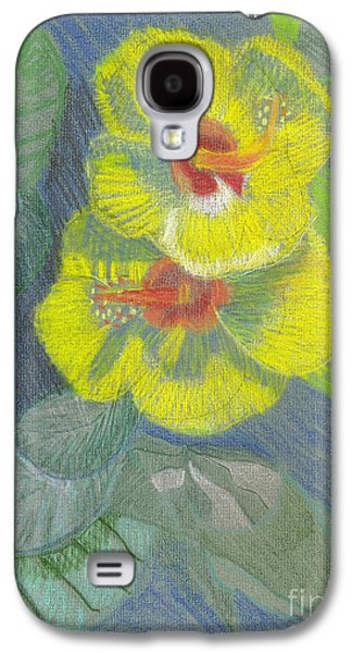 Yellow Hibiscus Galaxy S4 Case
