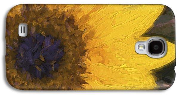 Yellow Sunflower Painterly Galaxy S4 Case