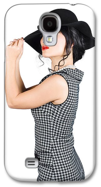 Young Beautiful Asian Brunette In Retro Dress Galaxy S4 Case by Jorgo Photography - Wall Art Gallery