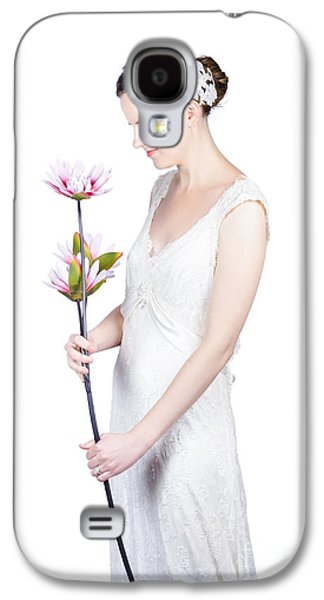 Young Bride With Flowers Galaxy S4 Case