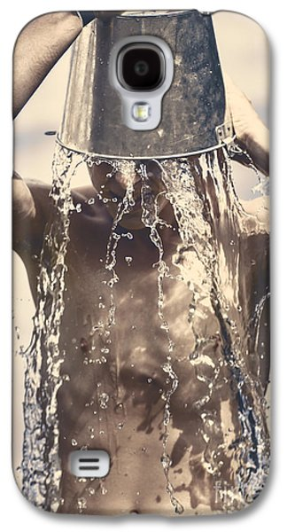 Young Man Having Fun On A Tropical Summer Holiday Galaxy S4 Case by Jorgo Photography - Wall Art Gallery