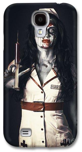 Zombie Nurse Holding Bloody Euthanasia Syringe Galaxy S4 Case by Jorgo Photography - Wall Art Gallery