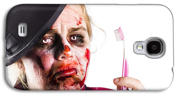 Zombie Woman With Toothbrush Galaxy S4 Case by Jorgo Photography - Wall Art Gallery