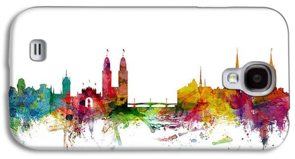 Zurich Switzerland Skyline Galaxy S4 Case by Michael Tompsett