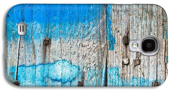 Blue Wood Galaxy S4 Case by Tom Gowanlock