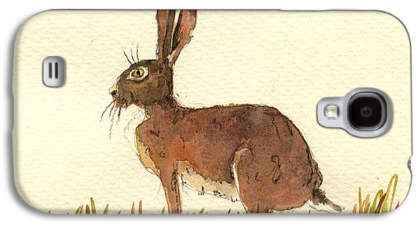 Rabbit Galaxy S4 Case - Hare by Juan  Bosco