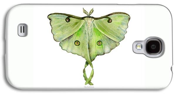 100 Luna Moth Galaxy S4 Case by Amy Kirkpatrick