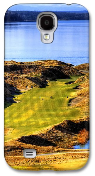 10th Hole At Chambers Bay Galaxy S4 Case by David Patterson