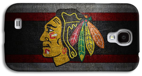 Chicago Blackhawks Galaxy S4 Case by Joe Hamilton