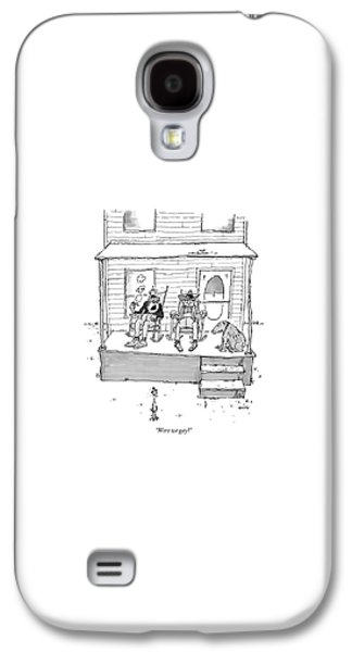 Were We Gay? Galaxy S4 Case by George Booth