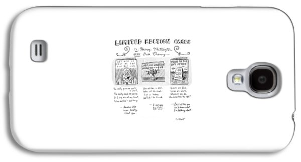Limited Edition Cards Galaxy S4 Case by Roz Chast