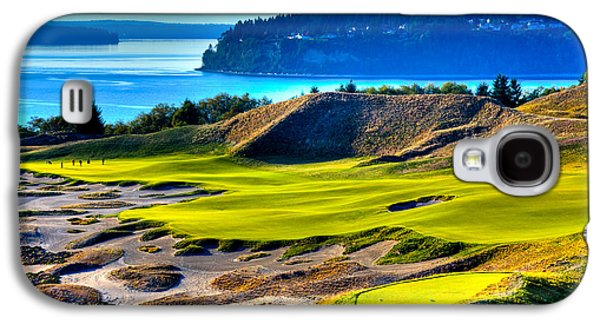 #14 At Chambers Bay Golf Course - Location Of The 2015 U.s. Open Tournament Galaxy S4 Case by David Patterson
