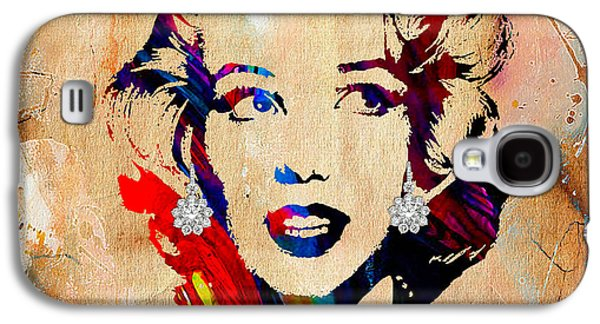 Marilyn Monroe Diamond Earring Collection Galaxy S4 Case by Marvin Blaine