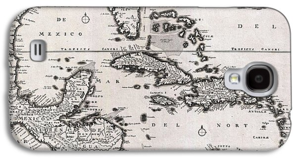 1696 Danckerts Map Of Florida The West Indies And The Caribbean Galaxy S4 Case