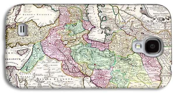 1730 Ottens Map Of Persia Iran Iraq Turkey Geographicus Regnumpersicum Ottens 1730 Galaxy S4 Case by MotionAge Designs