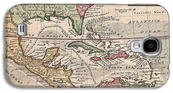 1732 Herman Moll Map Of The West Indies And Caribbean Galaxy S4 Case