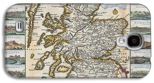 1747 La Feuille Map Of Scotland  Galaxy S4 Case