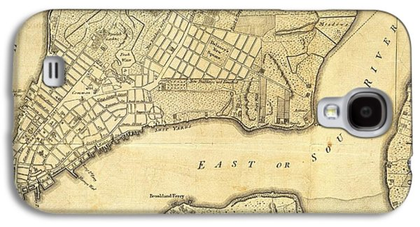 1776 New York City Map Galaxy S4 Case