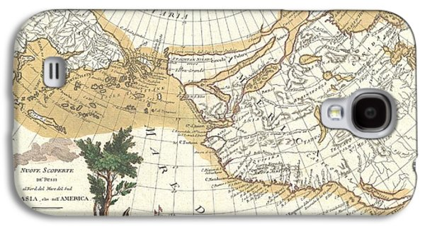 1776 Zatta Map Of California And The Western Parts Of North America Galaxy S4 Case