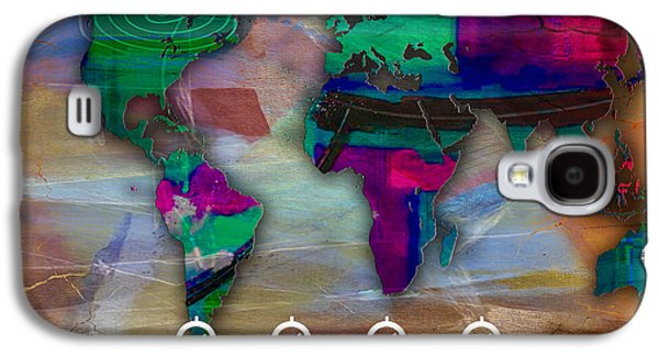 World Map Watercolor Galaxy S4 Case