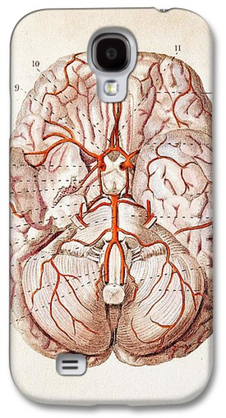 1840 Historical Image Brain Blood Supply Galaxy S4 Case by Paul D Stewart