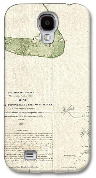 1846 Us Coast Survey Map Of Nantucket  Galaxy S4 Case by Paul Fearn