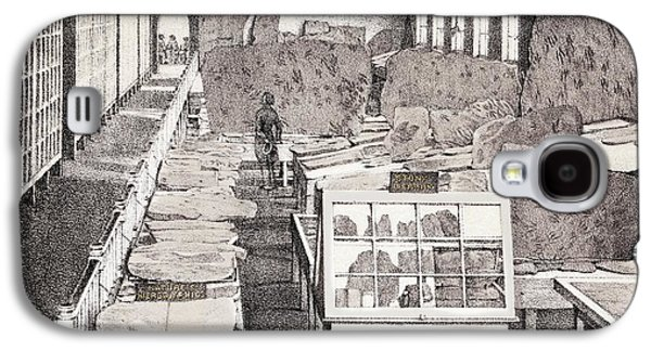 1858 Appleton Cabinet Ichnology Hitchcock Galaxy S4 Case by Paul D Stewart