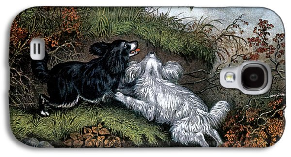 Woodcock Galaxy S4 Case - 1860s Two Spaniel Dogs Flushing by Vintage Images