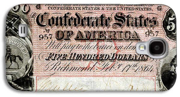 1864 Confederate Five Hundred Dollar Note Galaxy S4 Case