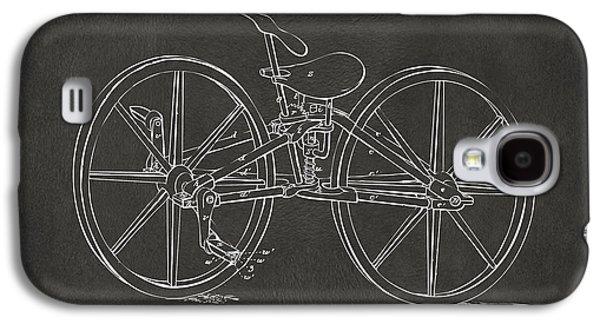 1869 Velocipede Bicycle Patent Artwork - Gray Galaxy S4 Case