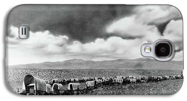 1870s 1880s Montage Of Covered Wagons Galaxy S4 Case
