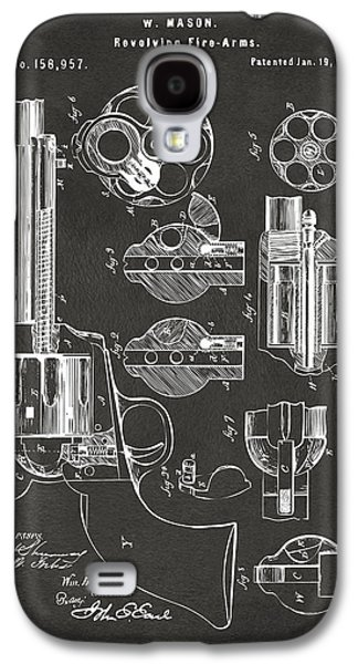 1875 Colt Peacemaker Revolver Patent Artwork - Gray Galaxy S4 Case by Nikki Marie Smith