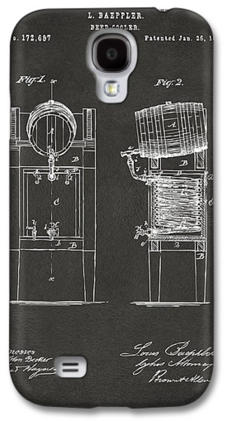 1876 Beer Keg Cooler Patent Artwork - Gray Galaxy S4 Case